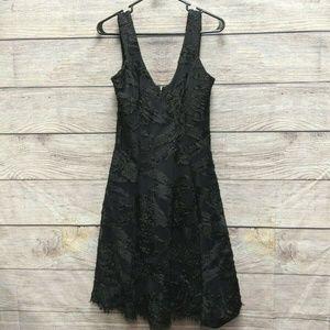 Dress the Population Womens Net Puffy Lace Dress
